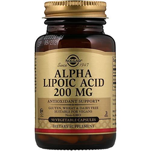 Alpha Lipoic Acid 200mg Capsules - Solgar - Alpha Lipoic Acid 200 mg, 50 Vegetable Capsules