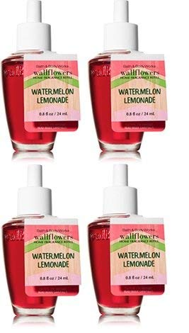 Bath and Body Works 4 Pack Watermelon Lemonade Wallflower Fragrance Refill. 0.8