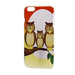Highsound Cute Owl Family Image Back Hard Case Cover For iPhone6 Plus 5.5""