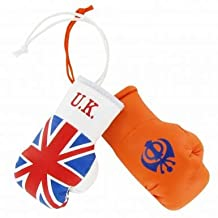 Great Britain & UK Sikhs Khanda Mini Boxing Gloves for Cars or the Home