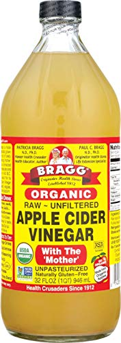 Bragg Organic Raw Unfiltered Apple Cider Vinegar with The Mother, 32 ounce