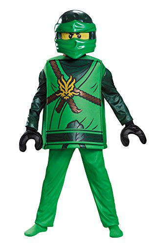 Boy's Deluxe Lego Lloyd Ninjago Theme Party Outfit Kids Halloweem Costume, Small (4-6)