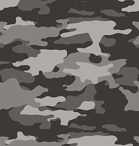 Creative Converting 725532 Operation Camo Border Print Plastic Tablecover, 54 by 108