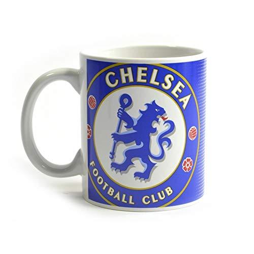 Chelsea White Coffee - Chelsea FC Halftone 11oz Boxed Mug (One Size) (Blue/White)