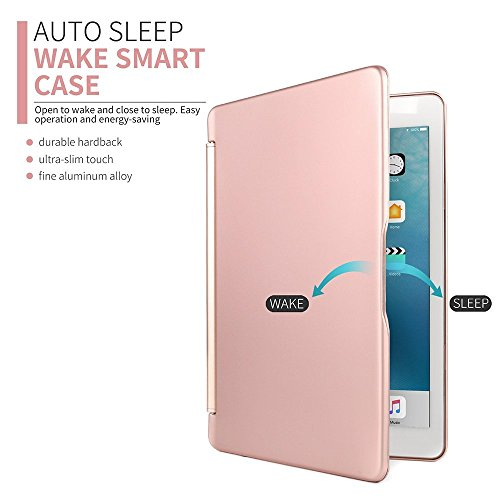 New-2017-iPad-97-Inch-Keyboard-CaseGenjia-Ultra-slim-Protective-Shell-Flip-Smart-Cover-Bluetooth-Wireless-Keyboard-Book-Folio-Hard-Case-with-Backlit-Universal-for-New-iPad-2017-97Air1-RoseGold