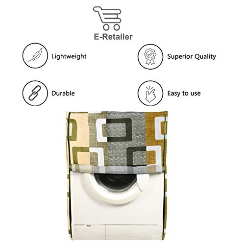 E-Retailer® Combo Set of Front Load Washing Machine Cover and Fridge Top Cover with 6 Pockets (Green, Set of 2 Pcs) 41jr4NO b3L India 2021