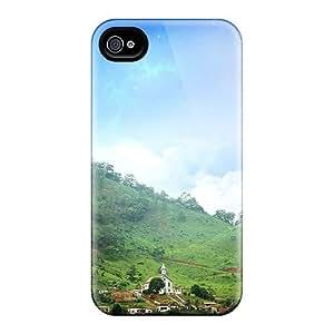 Tough Iphone SwV1282bTUW Case Cover/ Case For Iphone 4/4s(mountain Art)