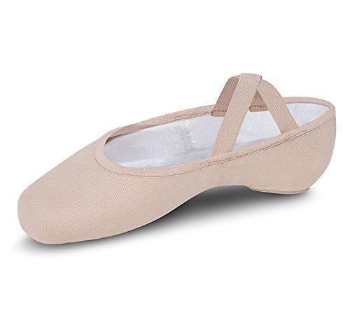 para Lona rosa teatral mujer Performa Ballet de cuero Bloch wqpSTx