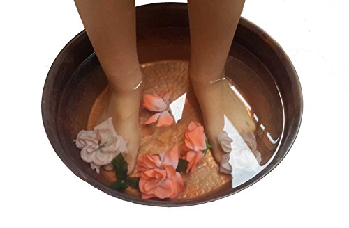 Egypt gift shops HANDMADE Shallow Rustic Fire Burnt Copper Pedicure Foot Spa Bath Therapy Massage Soaking Bowl
