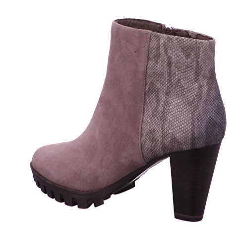 Taupe Booties 25704 Tamaris 21 Leather AWOnHFxZB