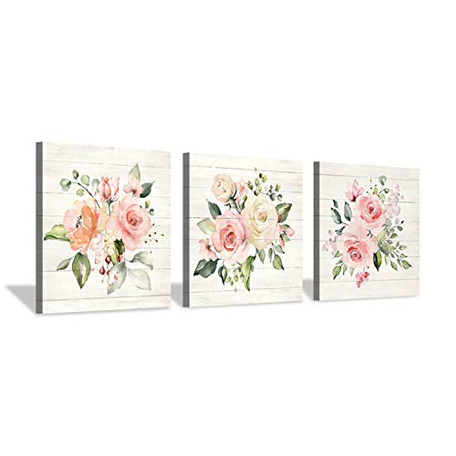 (Hardy Gallery Nature Picture Floral Arts Paintings: Bloom Antique Roses Bouquet Graphic Artwork Print on Wrapped Canvas for Walls)
