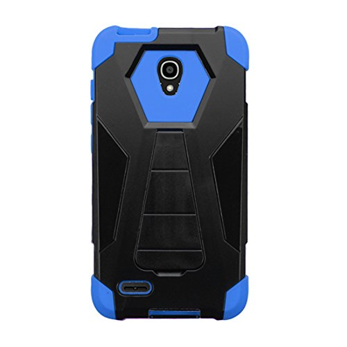 Asmyna Phone Case for ALCATEL 7046T (One Touch Conquest) - Retail Packaging - Blue