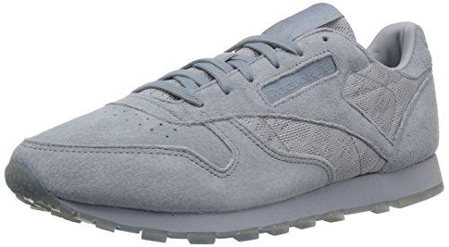 Reebok Women's CL Lthr Lace Sneaker, Meteor Grey/White, 8.5 M US