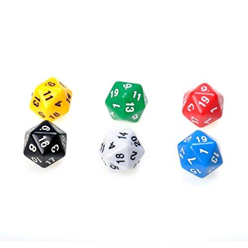 SmartDealsPro 100 Pack of Random Color D20 Polyhedral Dice DND RPG MTG Table Games