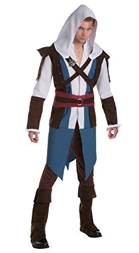 Palamon Men's Assassin's Creed Edward Classic Costume, Blue, Large (Edward Kenway Best Assassin)