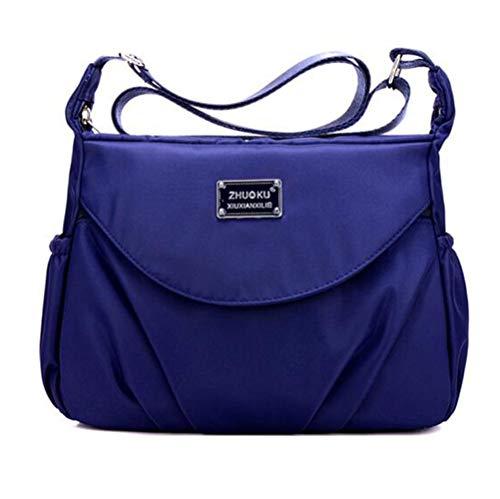 Women's Multi Pocket Crossbody Bag Casual Daypack Messenger Bag Travel Shoulder handbags Blue