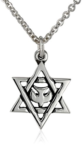 Bob Siemon Sterling Silver Star of David with Dove Pendant Necklace, 20""