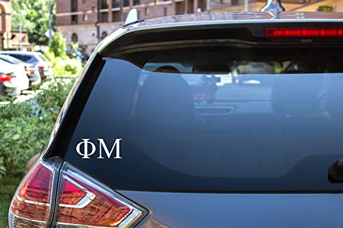 (Phi Mu Sticker Greek Sorority Decal for Car, Laptop, Windows, Officially Licensed Product, Monogram Design 2.5