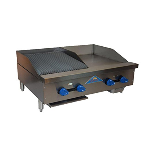 (Comstock Castle FHP36-18-1.5RB Gas Radiant Char Broiler & Griddle Combo Unit)