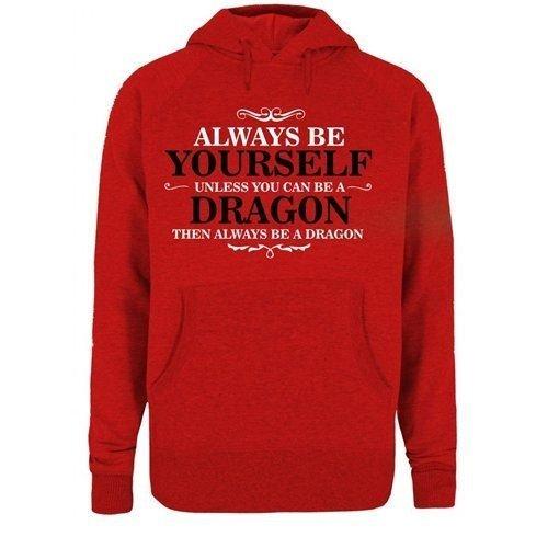 Bullshirt y frase en inglés de cualquier para hombre es que Dragon puedes A menos que se sudadera con capucha A se pueden.: Amazon.es: Ropa y accesorios
