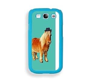 Hipster Shetland Pony Aqua Plastic Bumper Samsung Galaxy S3 SIII i9300 Case - Fits Samsung Galaxy S3 SIII i9300