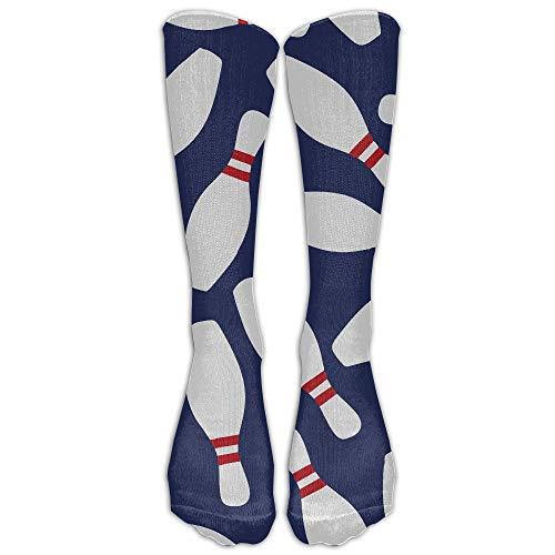 ZOZGETU GoKJ Unisex Athletic Bowling Skittle Long Socks (Long 50cm