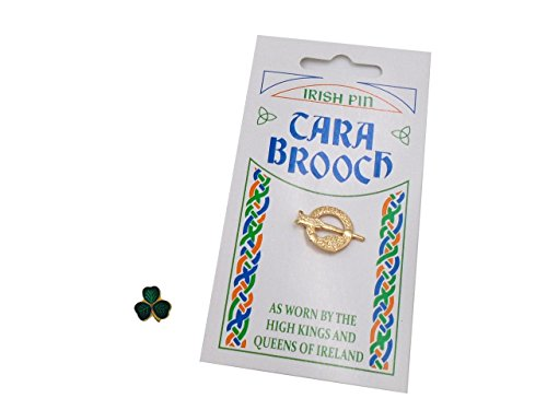 Set of Two Pins: Tara Brooch and Mini Shamrock Pin Set