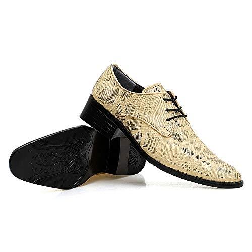Skin Cricket E Scarpe Snake Punta Casual Comode Oxford Gold Confortevole Business Con Da Fashion Morbida Uomo FAWY6Bq