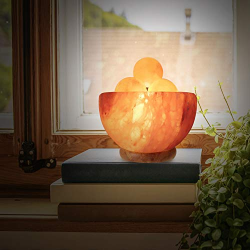 Himalayan Glow 1328 Bowl Salt lamp with Massage Ball by Himalayan Glow (Image #1)