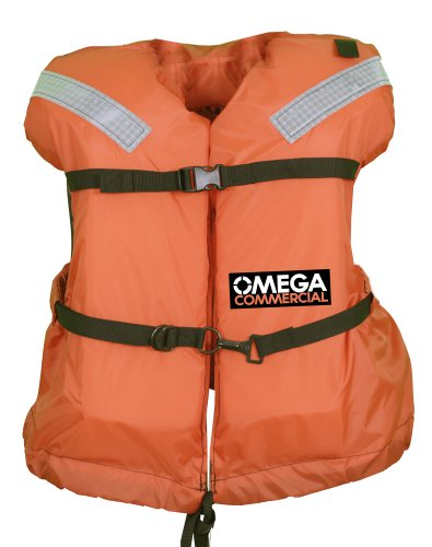 Omega Type I Commercial Off-Shore Life Jacket (Orange, Universal)