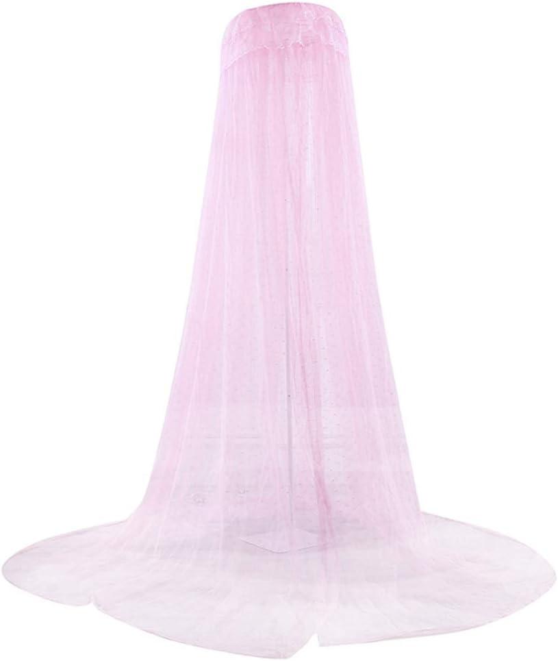 avec Poteau NIBESSER Ciel de Lit Fille Princesse Rose Chambre Papillons Moustiquaire en Filet