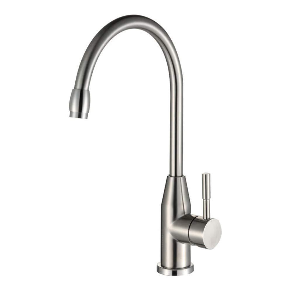 Edelstahl Einhand Wasserhähne Küche Heiße Und Kalte Waschbeckenarmatur Des Küchenhahns Drehender Küchenhahn