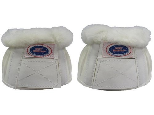 Derby Orginals Double Lock Bell Boots with Sheepskin Trim White (Large)