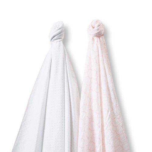 SwaddleDesigns SwaddleDuo Swaddling Blankets Marquisette