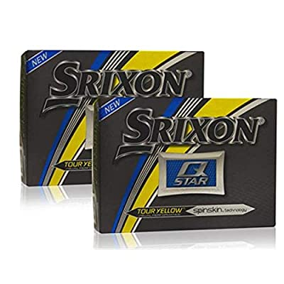 Srixon Q-Star Tour Yellow Golf Balls - Double Dozen