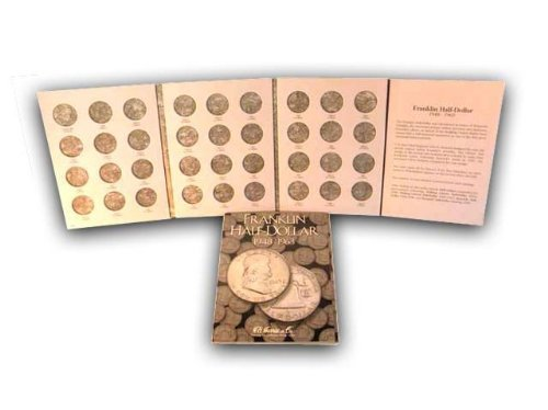H.E. Harris Coin Folder Book Franklin Half Dollar 1948-1963