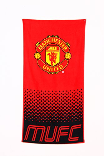Manchester United Fc Towel Fade Design Manchester United Christmas