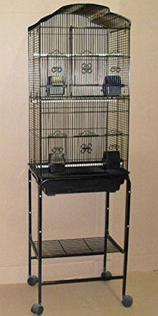 2 Color, Large Tall Canary Parakeet Cockatiel LoveBird Finch Roof Top Bird Cage With Stand --18