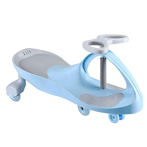 Children's Colorful Flashing Swing car, PU Mute Wheel Anti-Rollover Forefoot Small Wheel, ABS Swing car Front with a Small Speaker, Suitable for Boys and Girls Aged 2-3-4-5