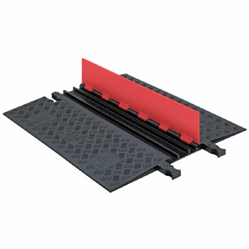 - Guard Dog GD3X75-O/B Heavy Duty 3 Channel Low Profile Cable Protector with ADA Compliant Ramp, Orange Lid with Black Ramp, 36