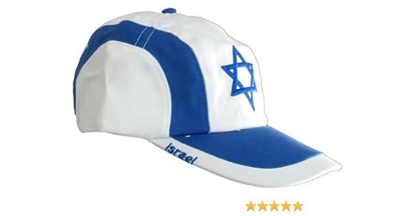 92eadb7b2a14 Israel Flag Cap - White at Amazon Men's Clothing store: Baseball Caps