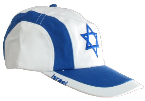 b71cc3ffe5b Israel Flag Cap - White at Amazon Men s Clothing store  Baseball Caps