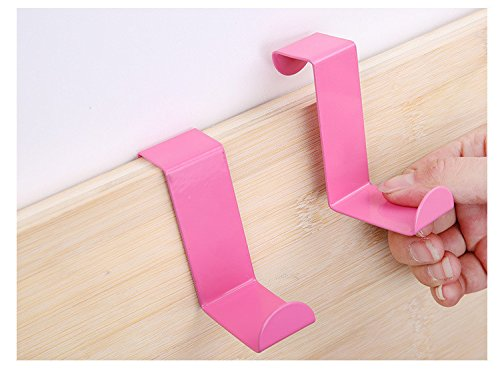 2pcs/set Stainless Steel Cabinet Door Drawer Hooks Clothes Hanger Towel Holder Home Organizer Kitchen Accessories (Greatest Couples Costumes)