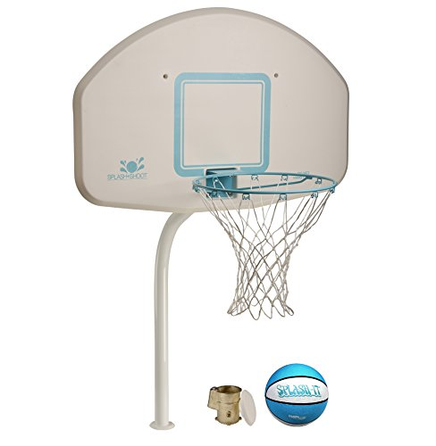 Dunnrite DeckShoot Pool Basketball Hoop with Stainless Steel Rim and Brass Anchor (DMB200BR Stainless) ()