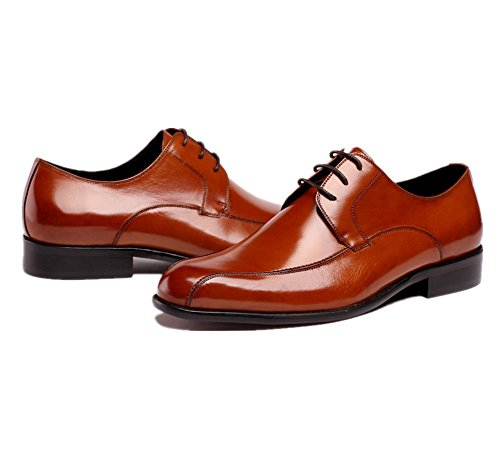 Hombres Oxford Cuero Zapatos Formal Negocio Inteligente para los hombres Puntiagudo Dedo del pie Encajes Negro marrón Boda Oficina Trabajo Fiesta Brown