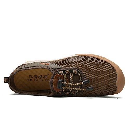 Shoes Cachi Infilare Casuale Scarpe Cicalino Maschi Maglia Traspirante Gomnear Walking wxZ8RHqzH