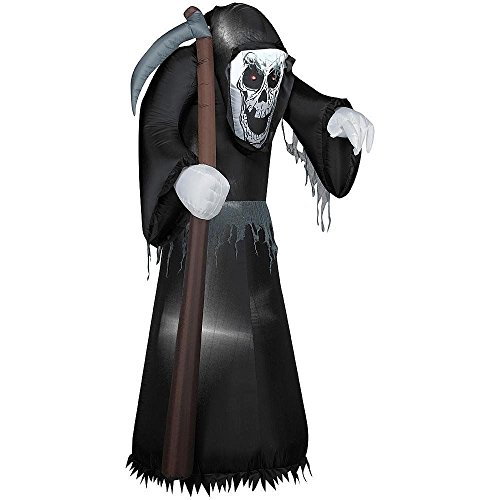[5.5 Foot Airblown Reaper with Scythe Halloween Airblown Inflatable] (Scythe Halloween)