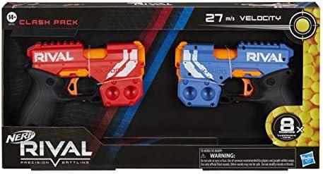 Nerf Rival Clash Pack - Incluye 2 Nerf Rival Blasters y 8 Rondas Oficiales Nerf Rival - Velocidad de 25 MPS, Carga de Nalgas: Amazon.es: Juguetes y juegos