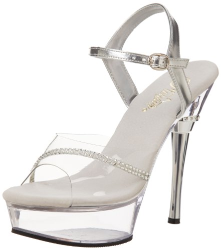 Pleaser Women's Allure-650 Sandal Clear/Clear