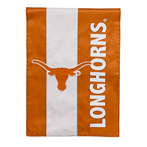 Team Sports America University of Texas Outdoor Safe Double-Sided Embroidered Logo Applique Garden Flag, 12.5 x 18 inches ()